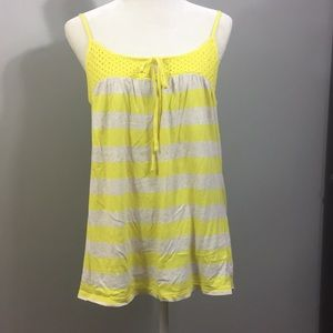 Old Navy Yellow Striped Tank